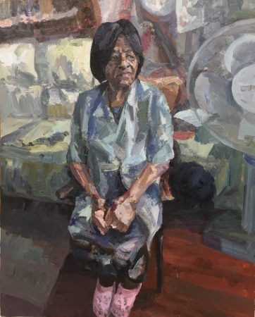 Lucille Tottenham resident oil on canvas 60inches x 48inches NFS