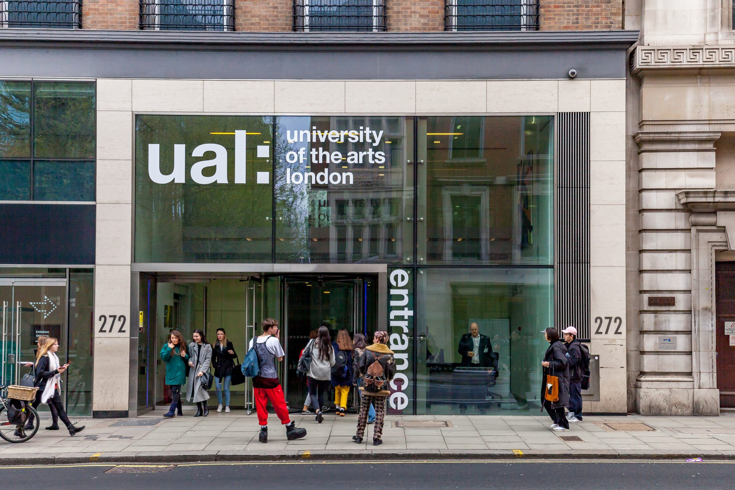 University of the Arts London Central Services Entrance. Photo Ualwebsupport CC BY SA 4.0 https creativecommons.org licenses by sa 4.0 via Wikimedia Commons